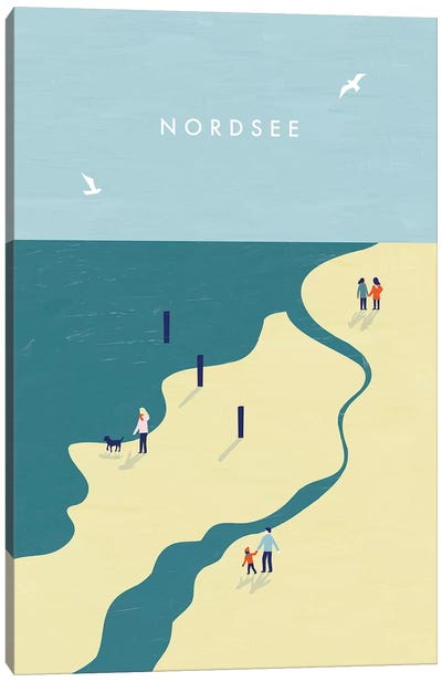 Nordsee Canvas Art Print