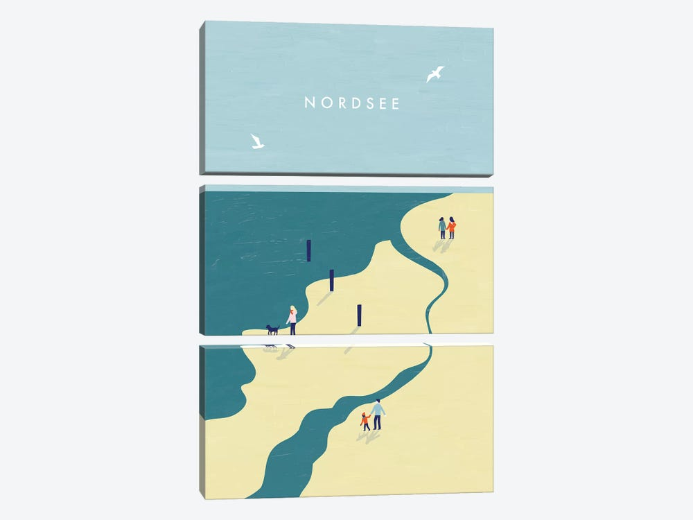 Nordsee by Katinka Reinke 3-piece Canvas Print