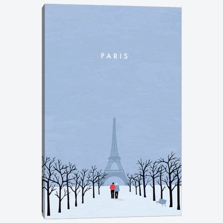 Paris Canvas Print #KTK12} by Katinka Reinke Canvas Art