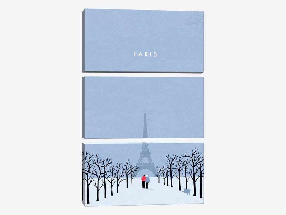 Paris by Katinka Reinke 3-piece Canvas Wall Art