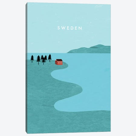 Sweden 3-Piece Canvas #KTK13} by Katinka Reinke Canvas Wall Art