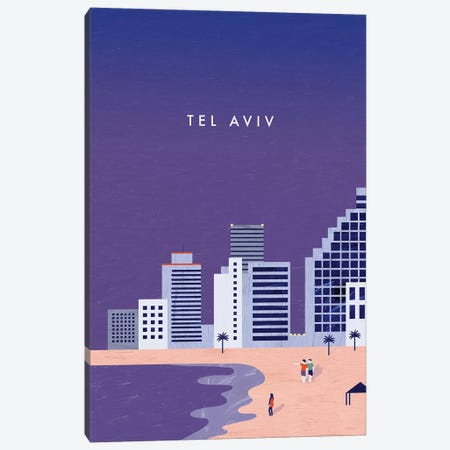 Tel Aviv Canvas Print #KTK15} by Katinka Reinke Canvas Art Print