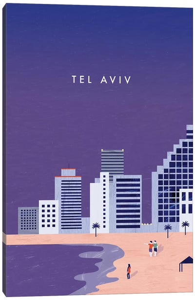 Tel Aviv Canvas Art Print