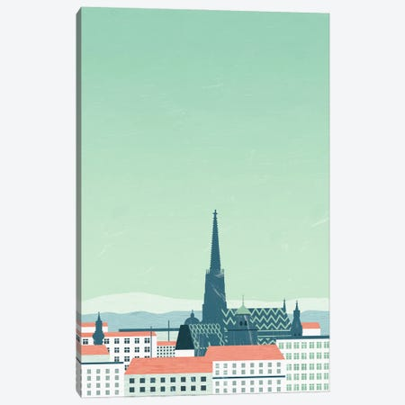 Wien 3-Piece Canvas #KTK16} by Katinka Reinke Art Print