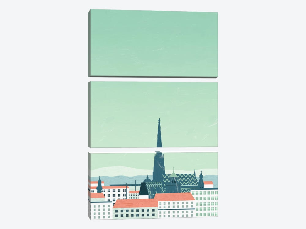 Wien by Katinka Reinke 3-piece Canvas Artwork