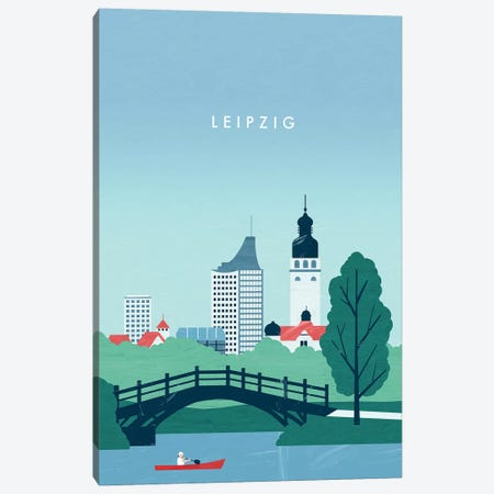 Leipzig 3-Piece Canvas #KTK17} by Katinka Reinke Canvas Art Print