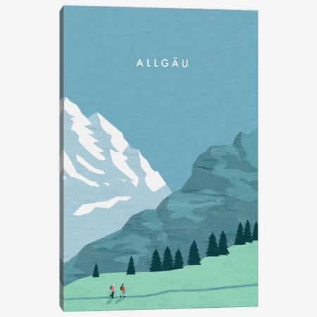 Allgäu 3-Piece Canvas #KTK1} by Katinka Reinke Art Print