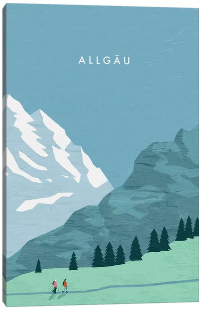 Allgäu Canvas Art Print