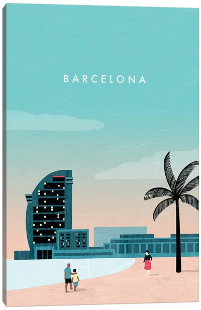 Barcelona Canvas Art Print