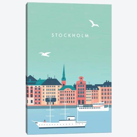 Stockholm Canvas Print #KTK28} by Katinka Reinke Art Print