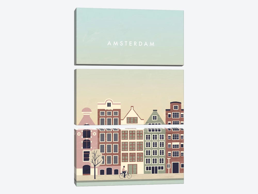 Amsterdam by Katinka Reinke 3-piece Canvas Print