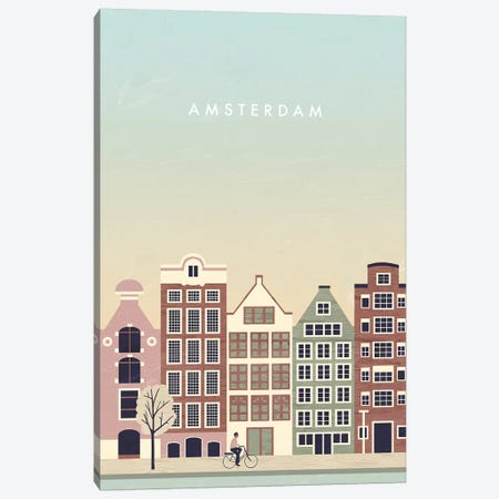 Amsterdam 3-Piece Canvas #KTK2} by Katinka Reinke Art Print