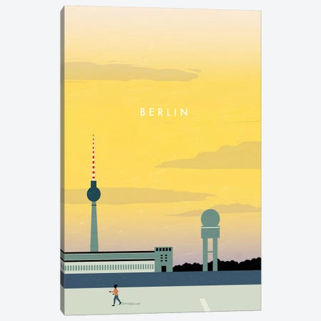 Berlin Canvas Print #KTK3} by Katinka Reinke Art Print