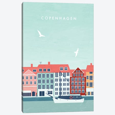Copenhagen Canvas Print #KTK4} by Katinka Reinke Canvas Artwork