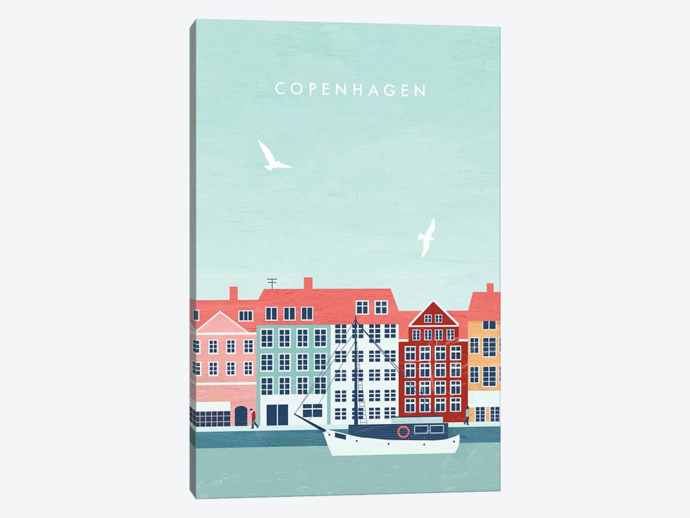 Copenhagen by Katinka Reinke 1-piece Canvas Print