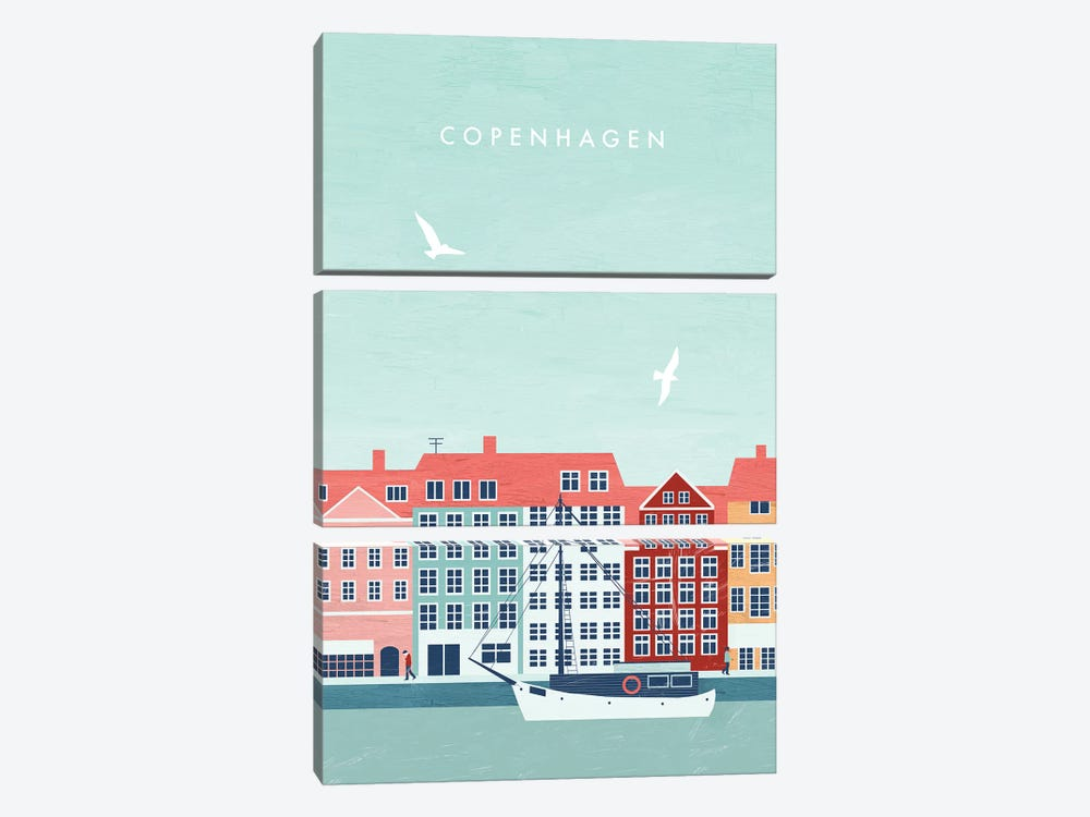 Copenhagen by Katinka Reinke 3-piece Canvas Art Print