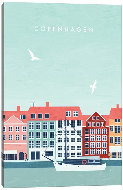 Copenhagen Canvas Art Print