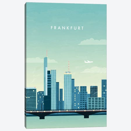 Frankfurt Canvas Print #KTK6} by Katinka Reinke Canvas Artwork
