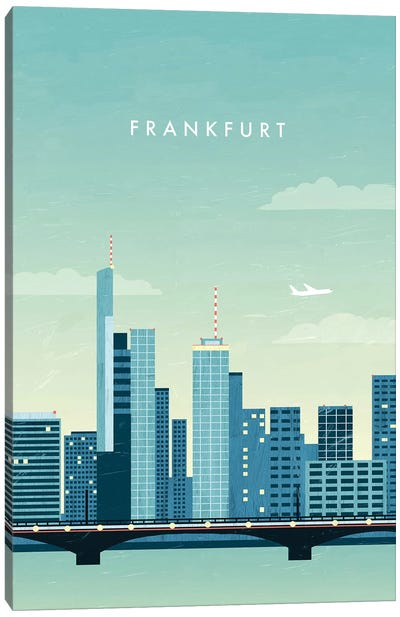 Frankfurt Canvas Art Print