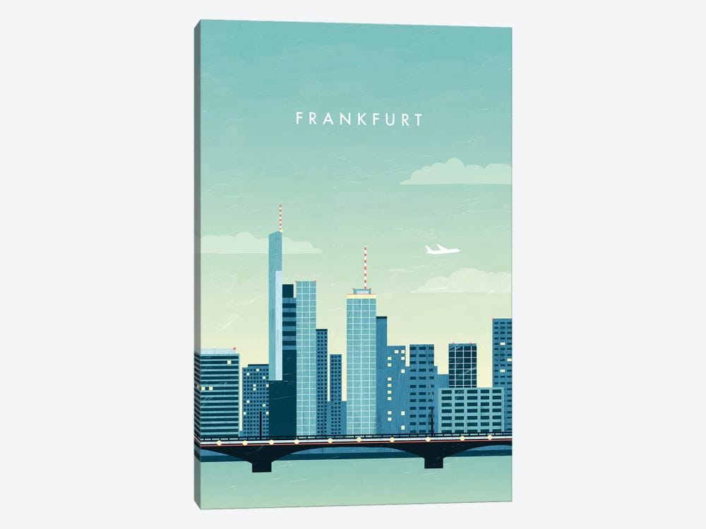 Frankfurt by Katinka Reinke 1-piece Canvas Art Print