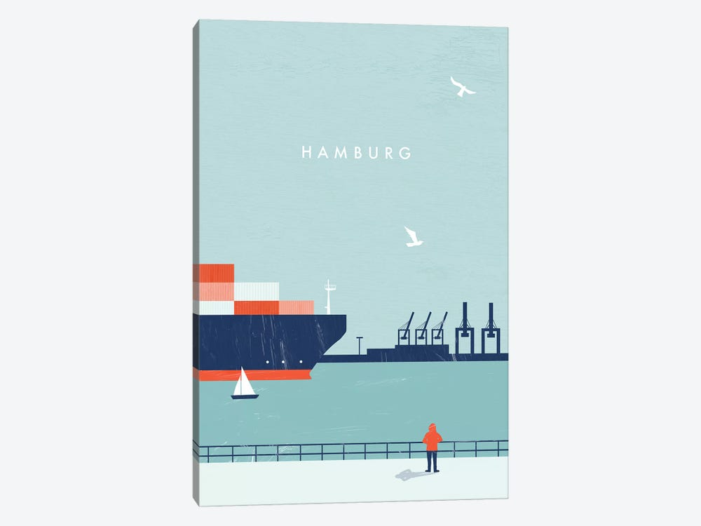 Hamburg 1-piece Canvas Art