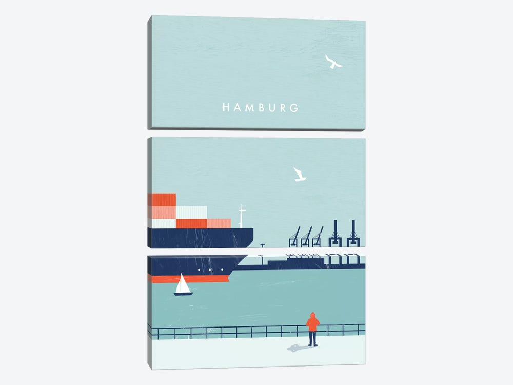 Hamburg 3-piece Canvas Art
