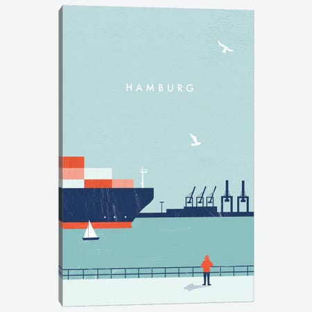 Hamburg 3-Piece Canvas #KTK7} by Katinka Reinke Canvas Art