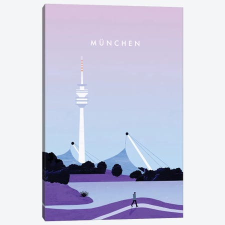 München 3-Piece Canvas #KTK9} by Katinka Reinke Art Print