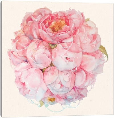 Bouquet Of Peonies Canvas Art Print
