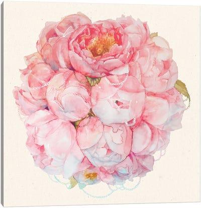 Bouquet Of Peonies Canvas Art Print
