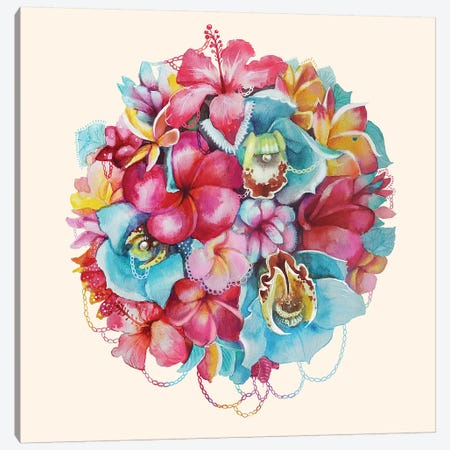 Hawaii Bouquet Canvas Print #KTO23} by Kate Tova Canvas Art Print