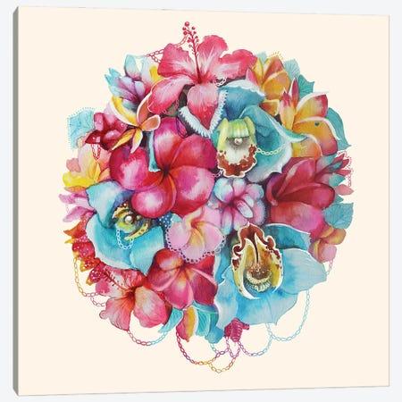 Hawaii Bouquet Canvas Print #KTO23} by Kate Tova Canvas Art Print