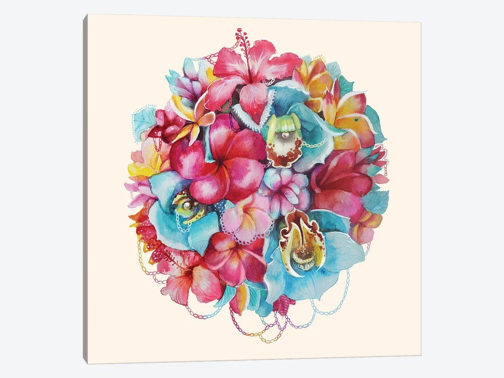 Hawaii Bouquet by Kate Tova 1-piece Canvas Print