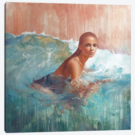 In My Ocean Canvas Print #KTO27} by Kate Tova Canvas Art