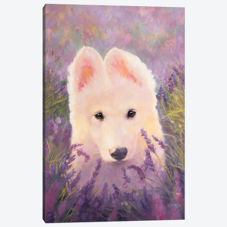 In The Lavender Fields 3-Piece Canvas #KTO28} by Kate Tova Canvas Art Print