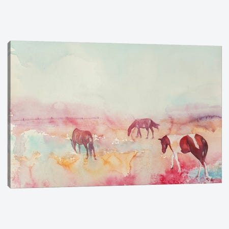 Pink Fields Canvas Print #KTO35} by Kate Tova Canvas Art Print