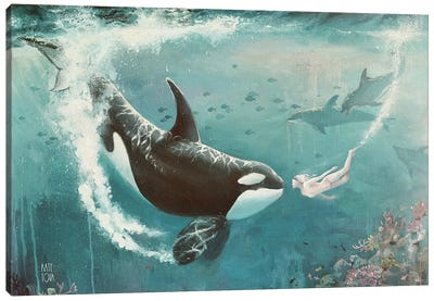 Underwater Love At First Sight Canvas Art Print