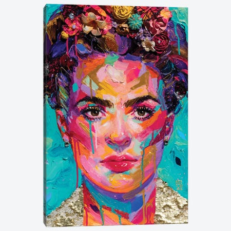 Frida Canvas Print #KTO51} by Kate Tova Canvas Wall Art