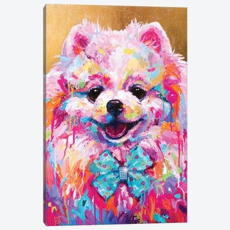 Pink Dog  Canvas Print #KTO55} by Kate Tova Canvas Art Print
