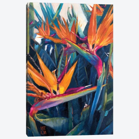 Birds of Paradise II 3-Piece Canvas #KTO7} by Kate Tova Canvas Artwork