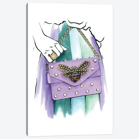 Gucci Bag Canvas Print #KTP15} by Katerina Pashegor Canvas Art