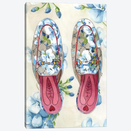 Gucci Shoes Canvas Print #KTP16} by Katerina Pashegor Canvas Art