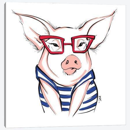 Piggy  Canvas Print #KTP30} by Katerina Pashegor Canvas Print