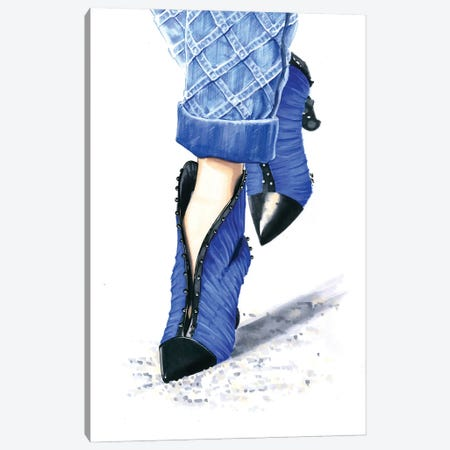 Balmain Shoes Canvas Print #KTP4} by Katerina Pashegor Canvas Wall Art