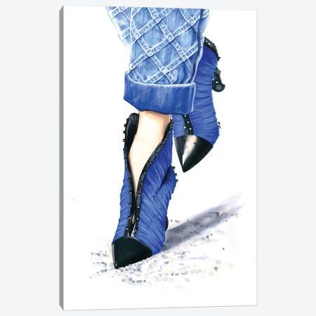Balmain Shoes 3-Piece Canvas #KTP4} by Katerina Pashegor Canvas Wall Art