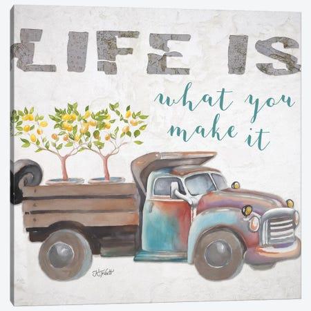 Life Is What You Make It Canvas Print #KTR11} by Karen Tribett Canvas Art Print