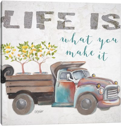 Life Is What You Make It Canvas Art Print