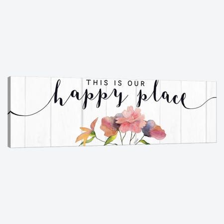 This is Our Happy Place Canvas Print #KTR16} by Karen Tribett Canvas Artwork