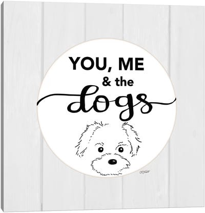 You, Me & the Dogs Canvas Art Print