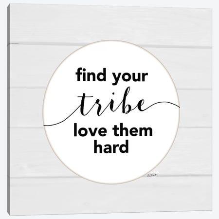 Find Your Tribe Canvas Print #KTR5} by Karen Tribett Canvas Wall Art